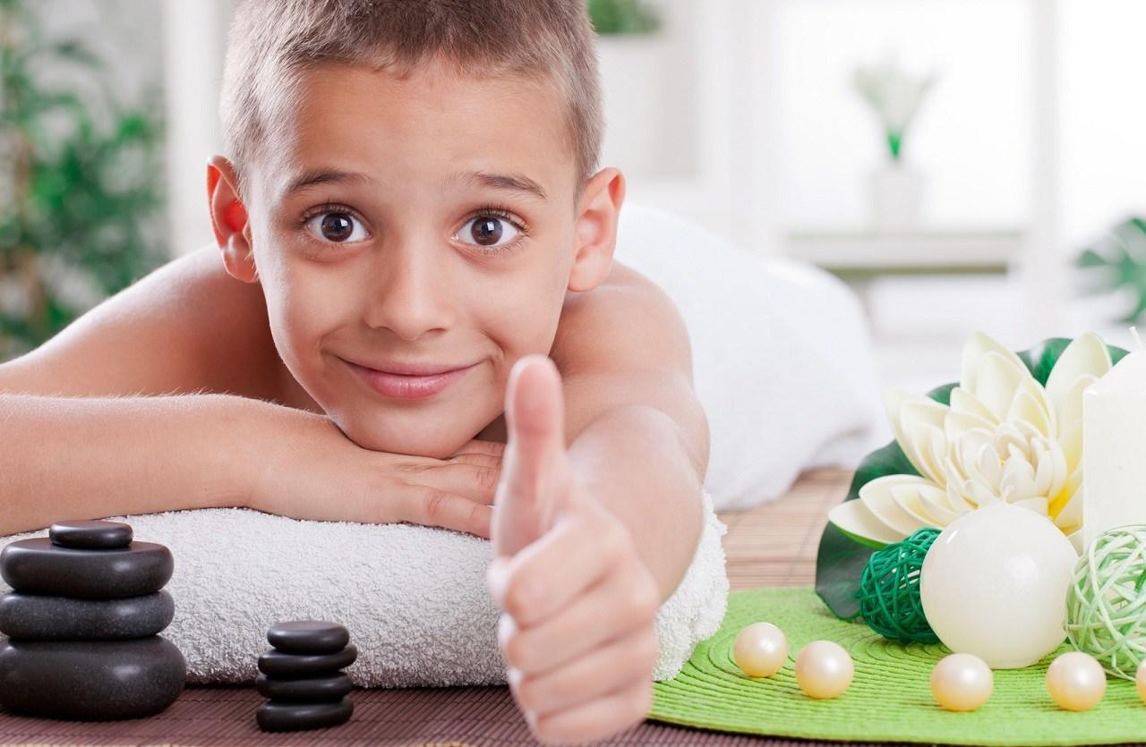 thajská masáž pro děti